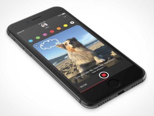 iPhone 7 Jet Black Face Up 3D Render PSD Mockup