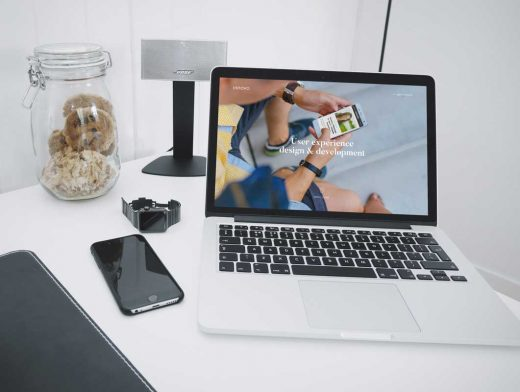 iPhone & MacBook With Enhanced FOV PSD Mockup