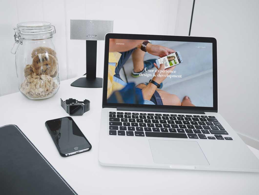 iPhone & MacBook With Enhanced FOV PSD Mockup