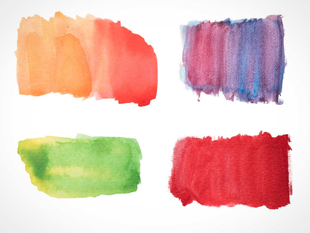 10 Watercolor Texture Forms PSD Mockup