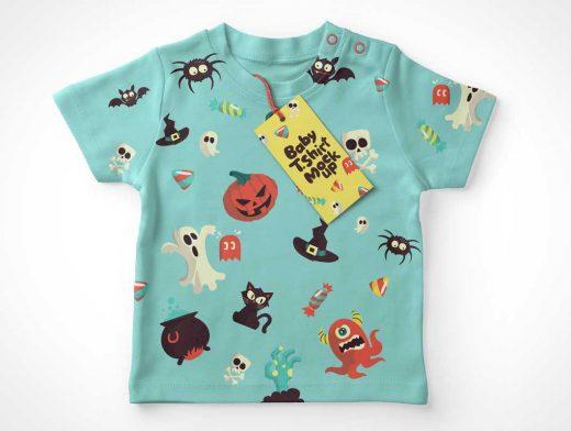 Baby T-Shirt Front View PSD Mockup