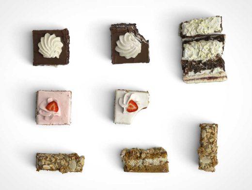Bakers Cream & Nut Cakes Scene Builder PSD Mockup