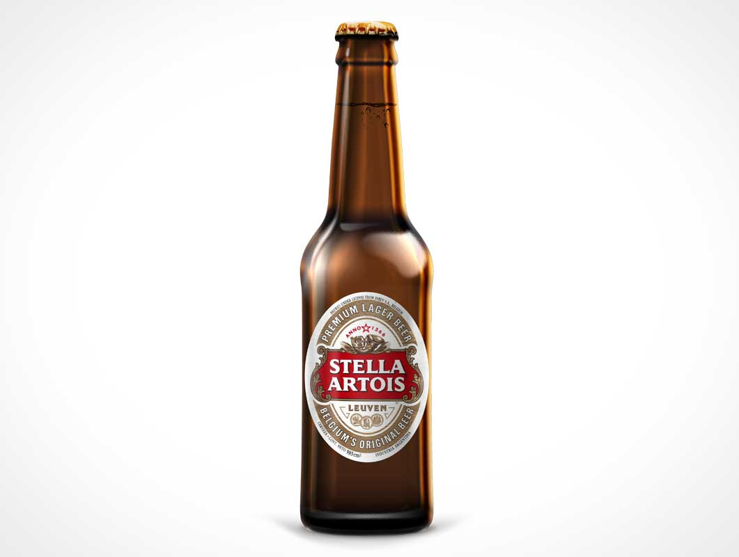 Beer Bottle Label Product Shot PSD Mockup