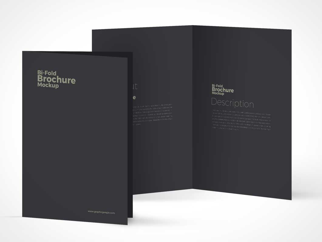 Brochure Front Cover & Inside Panels PSD Mockup