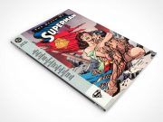 Comic Book & Graphic Novel Front Cover Above View PSD Mockup