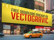 Downtown New York Style Billboard PSD Mockup