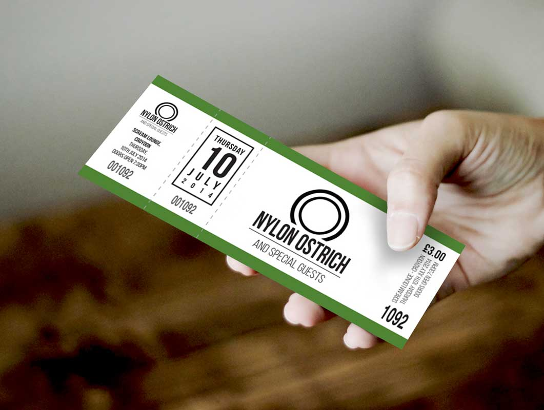 Event Ticket In Hand PSD Mockup