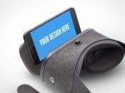 Google Daydream Smartphone VR Goggles PSD Mockup