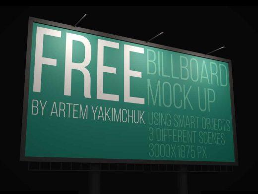 Interstate Highway Billboard PSD Mockup