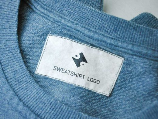 Jean & Sweatshirt Fashion Brand Label Tags PSD Mockup