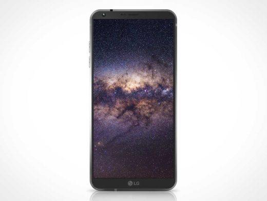 LG G6 Android Smartphone Display PSD Mockup
