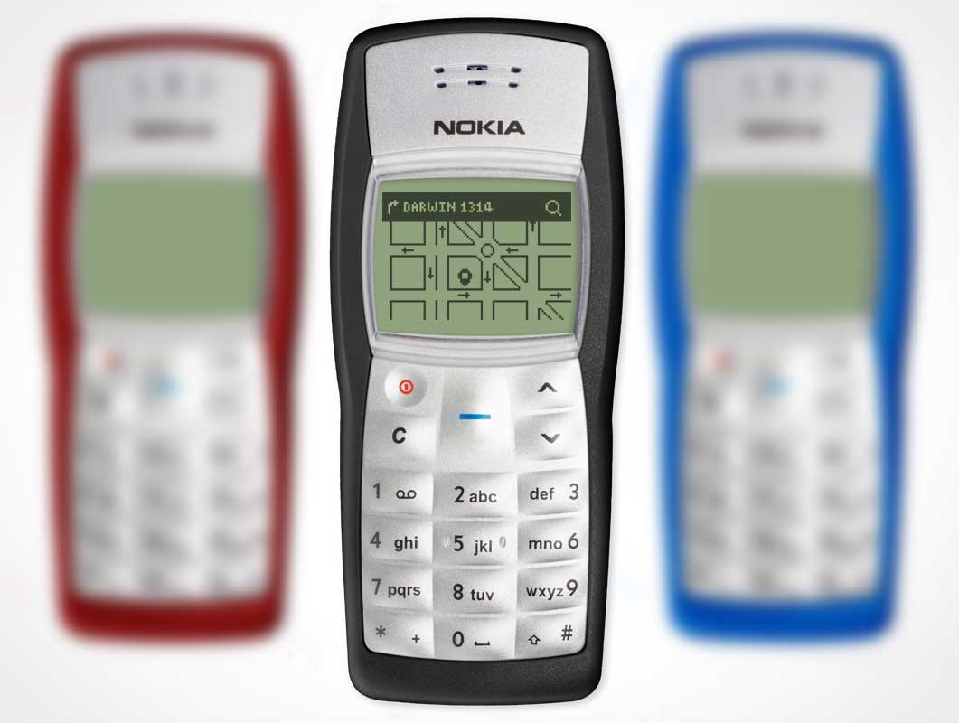 Nokia 1100 Liquid Crystal Display Handheld Phone PSD Mockup