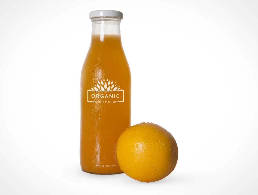 orange juice bottle fruit layers psd mockup psd mockups