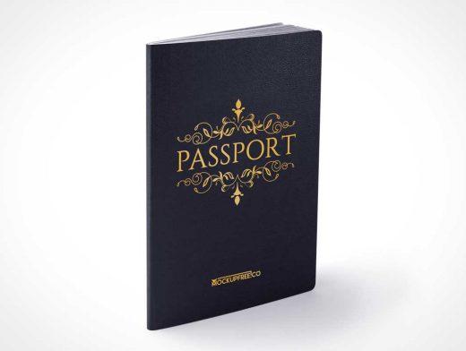 Passport Booklet Set Includes Front, Back & Inside Pages PSD Mockup