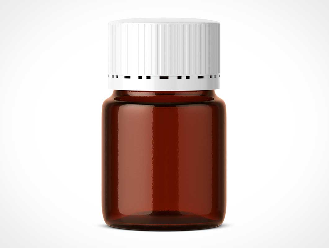 Pharmaceutical Pill Bottle Jar PSD Mockup