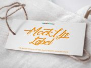 Rectangular Label Tag & String PSD Mockup