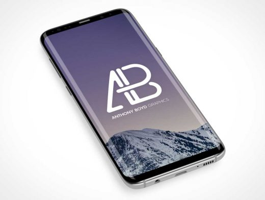 Samsung Galaxy S8 Plus Curved Glass Edges PSD Mockup