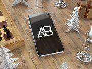 Samsung Galaxy S8 Plus Festive Scene PSD Mockup