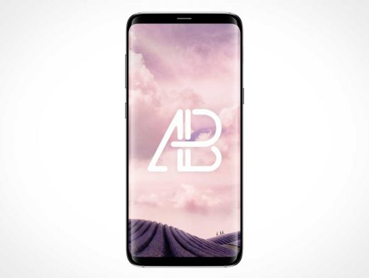 Samsung Galaxy S8 Plus Front Cover Display PSD Mockup