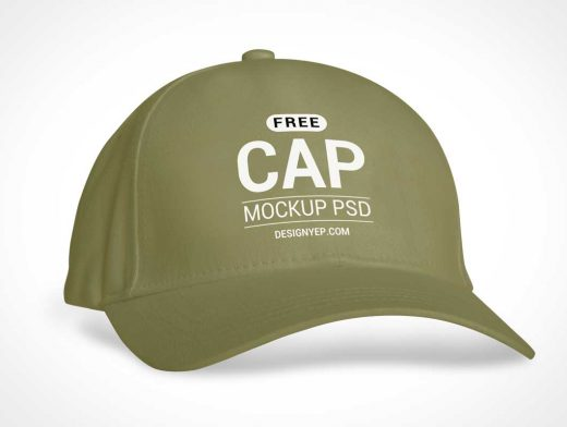 Sports Baseball Cap PSD Mockup