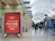 Supermall Poster Billboard Signage PSD Mockup