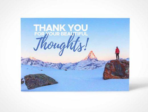 Thank You Post Card PSD Mockup