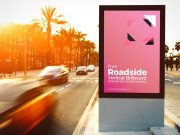 Traffic Billboard Portrait Mode Poster Advertisement PSD Mockup