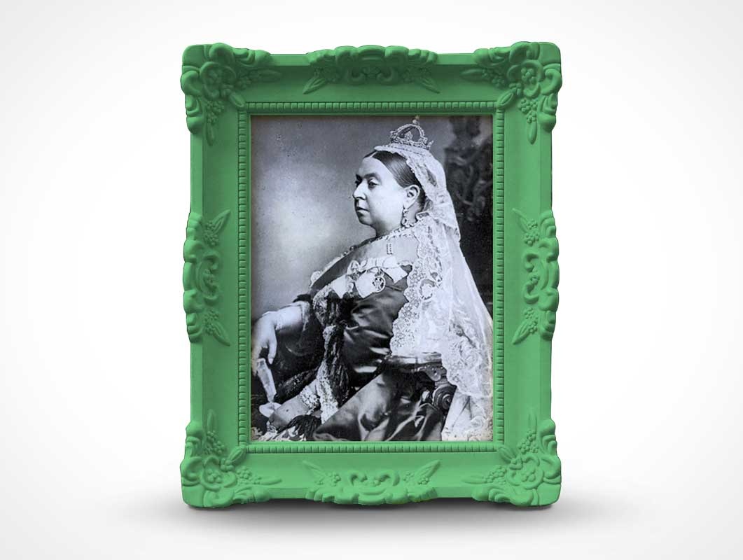 Victorian Photo Picture Frame PSD Mockup