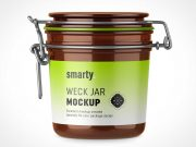 Weck Glass Jar With Latch Lid PSD Mockup
