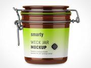 Weck Glass Jar With Latch Lid PSD Mockup