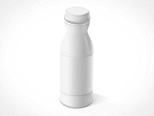 White-label Plastic Drink Bottle & Cap PSD Mockup