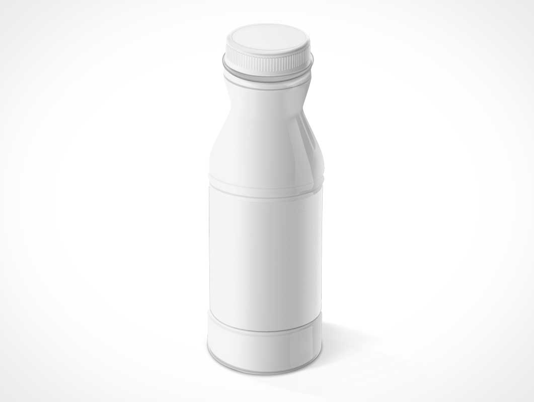 White-label Plastic Drink Bottle & Cap PSD Mockup