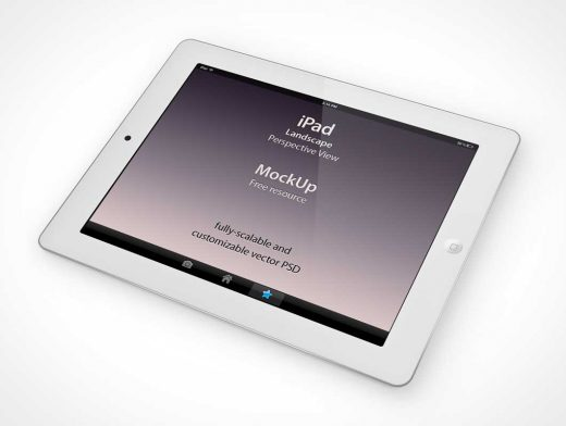 iPad Perspective Front Display PSD Mockup