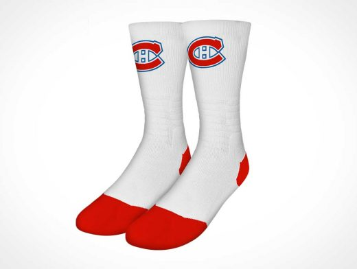 Athletic Team Crew Socks PSD Mockup
