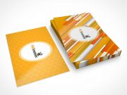 Business Card Stationery Short Stack PSD Mockup
