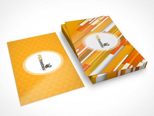Business Card Stationery Short Stack PSD Mockup