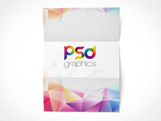 CV Resume Tri-Fold A4 Format Cover Sheet PSD Mockup