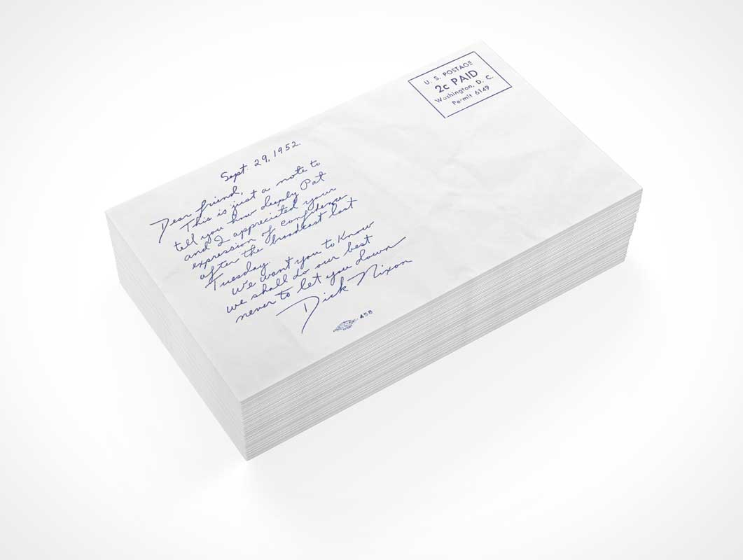 Envelope Stack Front Cover PSD Mockup