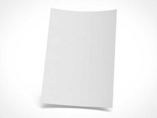 Floating A4 Corporate Letterhead Stationery PSD Mockup