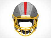 Football Team Helmet & Face Guard PSD Mockup