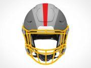 Football Team Helmet & Face Guard PSD Mockup