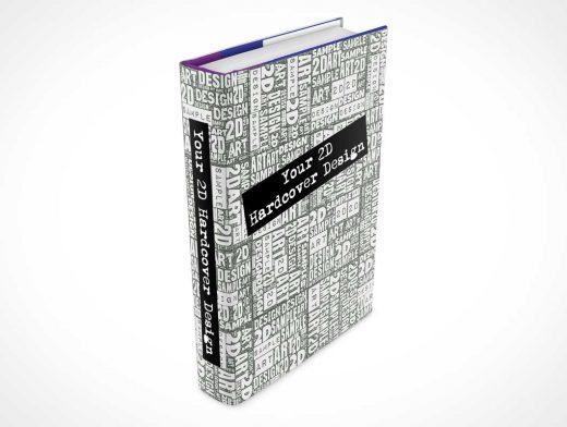 Hardcover Book Front & Spine Marketing PSD Mockup