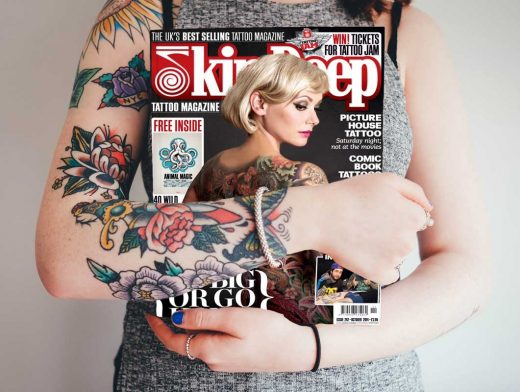 Magazine's Front Cover Held By Woman PSD Mockup