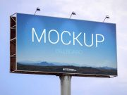 Outdoor Landscape Billboard PSD Mockup