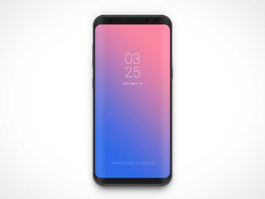 Samsung Galaxy S8 Android Smartphone PSD Mockup