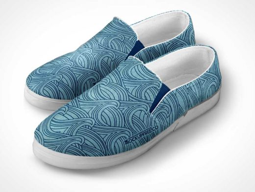 Slip-on Shoes With Rubber Soles PSD Mockup