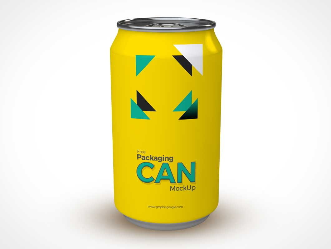 Soda Can Product Design Branding PSD Mockup