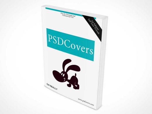 Softcover Book Front Cover PSD Mockup