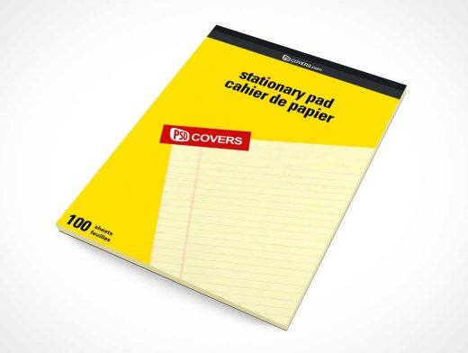 Stationery Pad Office Supply Front Cover PSD Mockup