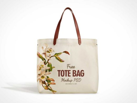 Eco-Friendly Cotton Fabric Tote Bag PSD Mockup